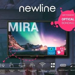 Newline Mira to nowy monitor interaktywny dostępny w wariantach przekątnych 65,75 oraz 86 cali. Technologia Opticla Bonding 4K zapewnia wyraźny jasny obraz, żywe kolory oraz doskonały bardzo czuły dotyk w 20 punktach multi-touch. Wbudowana kamera oraz matryca mikrofonowa z redukcją echa i szumów ułatwiają współpracę, pozwalają na swobodne prowadzenie rozmów wideo. Monitor nadaje się idealnie do sal konferencyjnych, wykładowych oraz biur. System Android 8.0 zapewnia wszystko, co jest potrzebne do nowoczesnej pracy. Zapraszamy do kontaktu w celu szczegółowego omówienia możliwości monitora oraz wyceny. #newlineinteractive#newlinemira #opticalbonding #4kuhd #avpoint