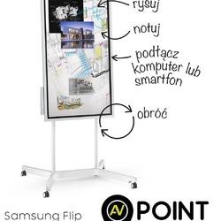 Poznaj rewolucyjny interaktywny flipchart Samsung FLIP. Sercem tego nietuzinkowego rozwiązania jest monitor UHD4K WM55H o przekątnej 55 cali. Sterowanie i obsługa odbywa się za pomocą palca lub dołączonych pisaków. Od teraz prowadzenie szkoleń i prezentacji nabiera nowego wymiaru. Więcej informacji znajdą Państwo na stronie naszego sklepu zapraszamy ! @samsungpolska #samsungflip #wm55h #flip #avpoint #uhd4k